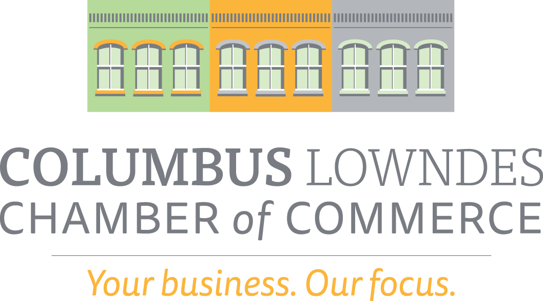 Columbus Lowndes Chamber of Commerece logo Your business Our focus