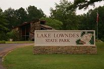 Lake Lowndes State Park sign