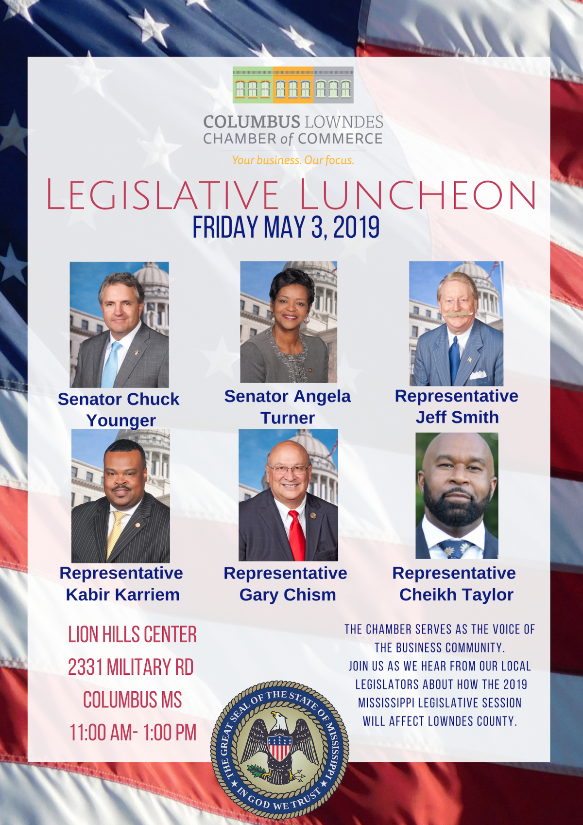 CLCC To Host 3rd Annual Legislative Luncheon for Members