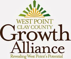 west point clay county growth alliance logo revealing west point's potential
